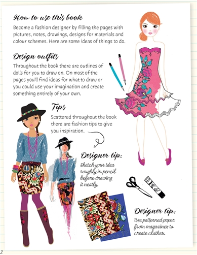 Usborne See Inside Fashion Designer Activity Book