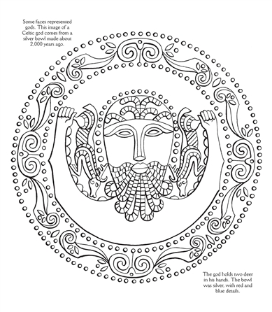 usborne see inside celtic patterns to colour - Celtic Patterns To Colour