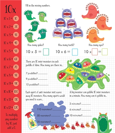 Usborne See Inside: Times tables activity book